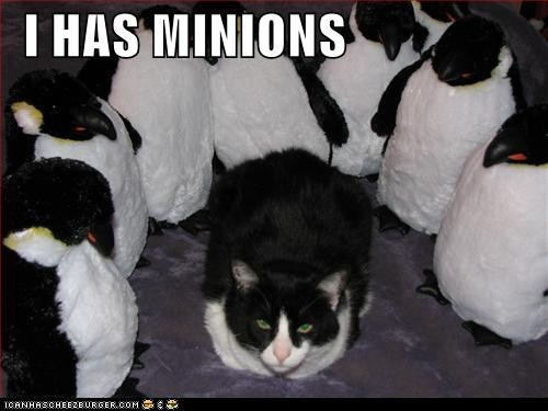 black and white,classics,minions,penguins,stuffed animals
