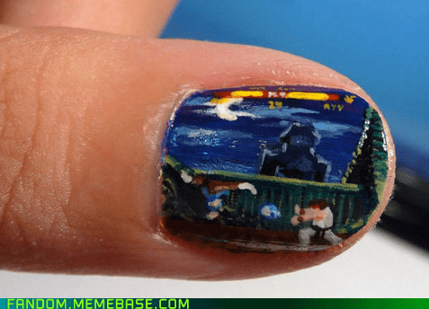 Fan Art nail art Street fighter video games