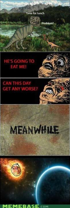 day dinosaur meteor Rage Comics - 5712606208