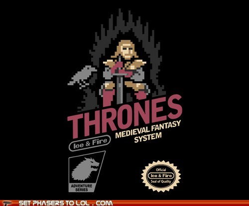8 bit a song of ice and fire adventure Eddard Stark fantasy Game of Thrones George RR Martin medieval NES thrones - 5712802816