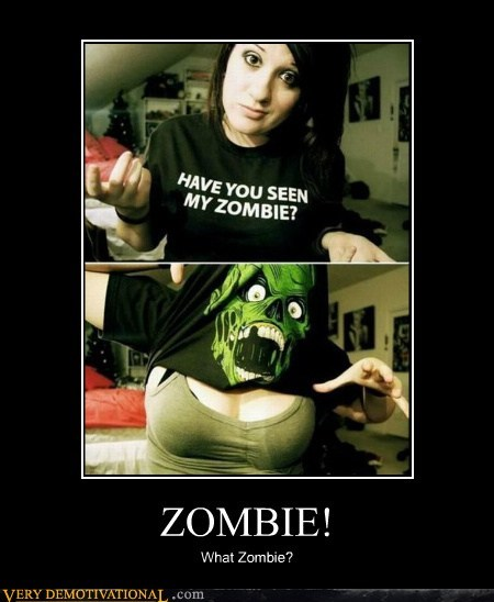 bewbs hilarious Sexy Ladies T.Shirt zombie - 5713576704