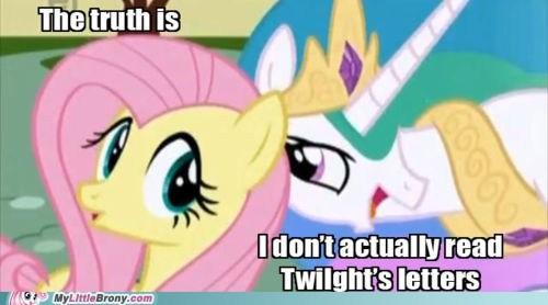 fluttershy letters ponies princess celestia twilight sparkle - 5713757696