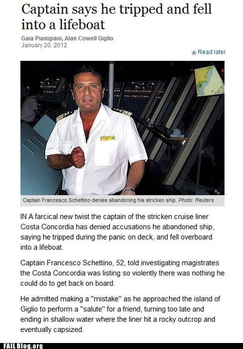 coward crash cruise ship oh Italy Professional At Work