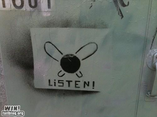 graffiti hacked irl legend of zelda link navi nerdgasm nintendo stencil Street Art tag video games - 5714333440