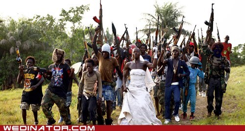 africa,bride,cinema,funny wedding photos,guns,johnny mad dog,men,movies