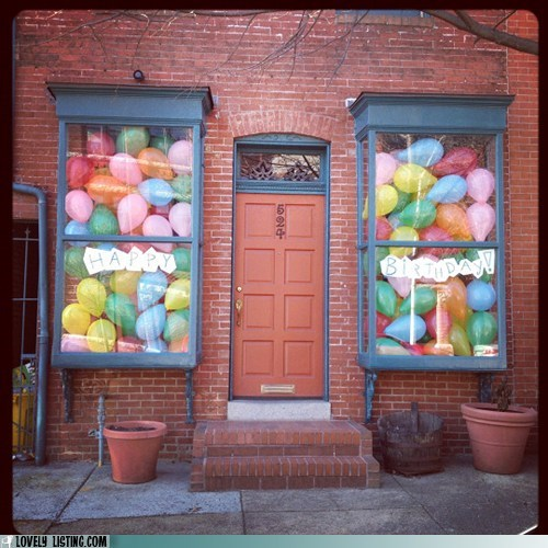 Balloons birthday Party windows - 5714644224