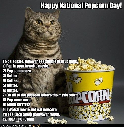 caption captioned food holidays movies national popcorn day Popcorn - 5714653696