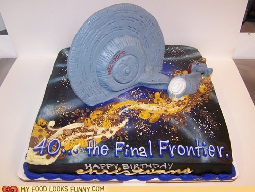 40 birthday cake enterprise Star Trek - 5714730752