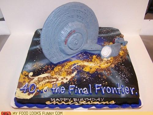 40 birthday cake enterprise Star Trek - 5714730752