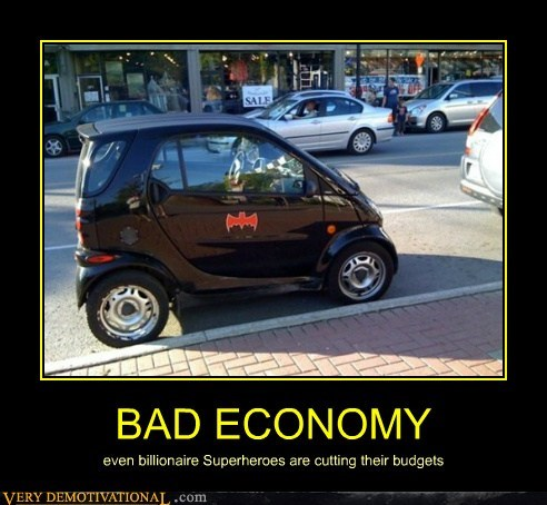 bad,batman,economy,hilarious,smart car,wtf