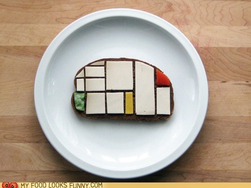 art bread cheese modern mondrian sandwich - 5714843904