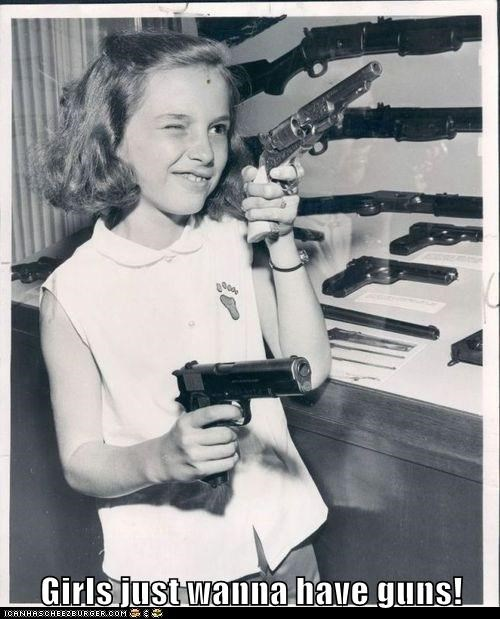 funny,girl,gun,historic lols,kid,Photo,weapon