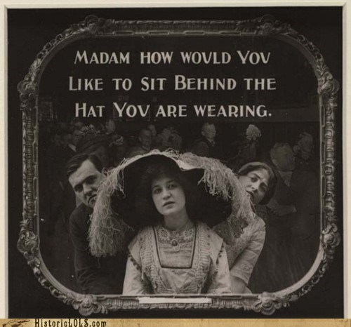 funny hat lady Photo psa - 5715009792