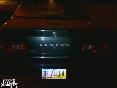 car driving legend of zelda license plate nerdgasm nintendo zelda - 5715165696