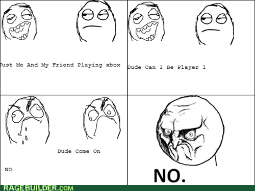 no player 1 Rage Comics video games