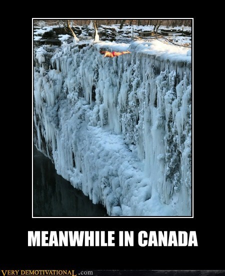Canada cliff diving cold ice idiots - 5715528448