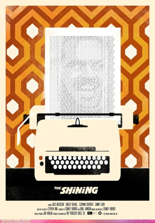 the shining art awesome jack nicholson Movie poster