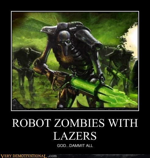 hilarious lasers robot zombie - 5715800576