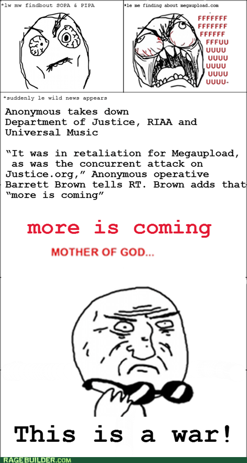 anonymous megaupload mother of god Rage Comics SOPA - 5715840768