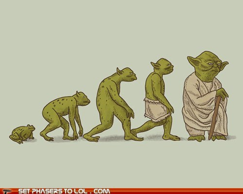 alien,art,evolution,frog,print,star wars,yoda