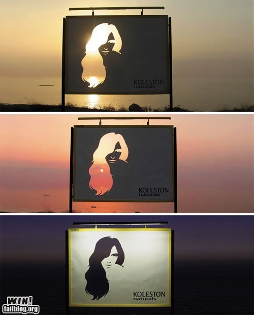 advertisement billboard design g rated makeup sunset win - 5716116992