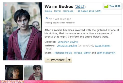 funny Movie warm bodies wtf