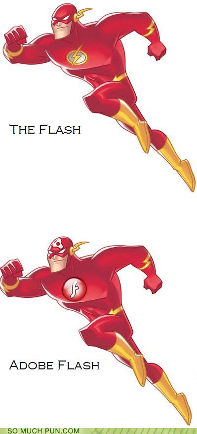 adobe character comic comics DC flash logo product superhero the flash - 5717101056