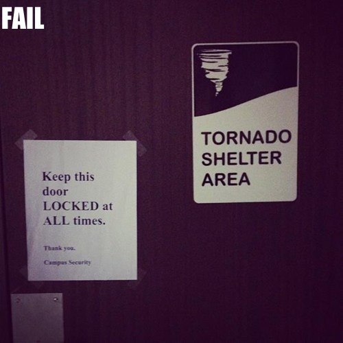 Professional At Work safety first signs tornado - 5717331968