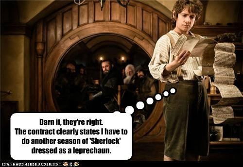 Bilbo Baggins contract Martin Freeman season Sherlock The Hobbit - 5717413120