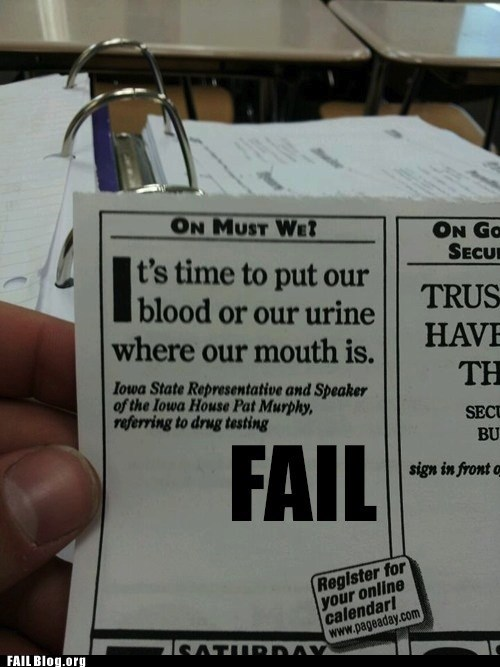 Bear Grylls would be prou Blood Hall of Fame quotes urine