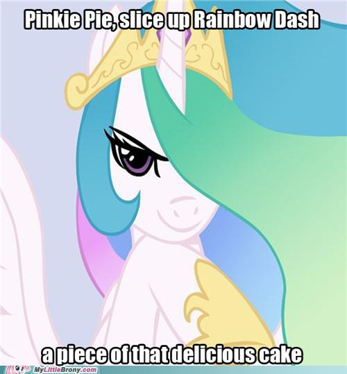 cupcakes good intentions celestia meme pinkie pie rainbow dash - 5717744128