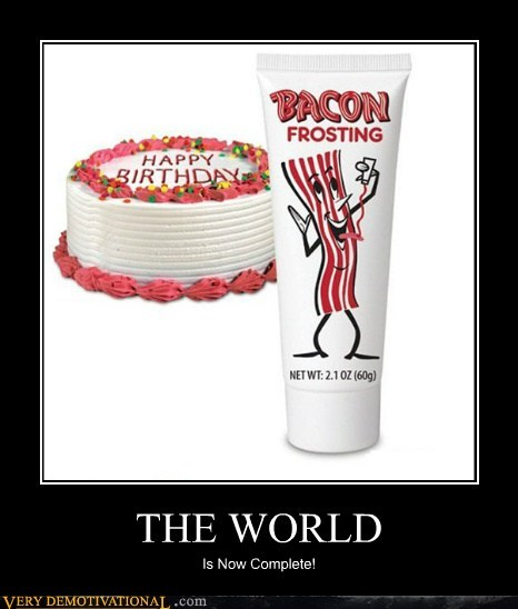 bacon delicious frosting hilarious world - 5717754112