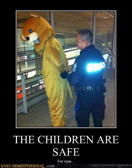 children,cop,hilarious,pedobear,safe
