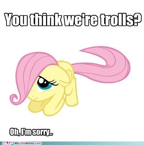 fluttershy love meme teens react trolls - 5718829312