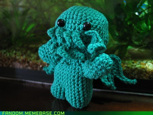cthulu,cute,Fan Art,fandom,knit