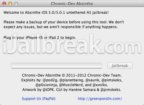absinthe A5,ipad 2,iphone 4s,jailbreak