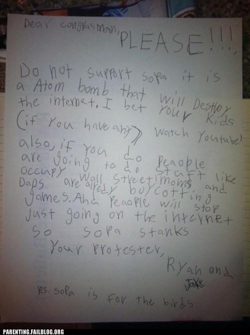activist children,PIPA,SOPA,stop SOPA