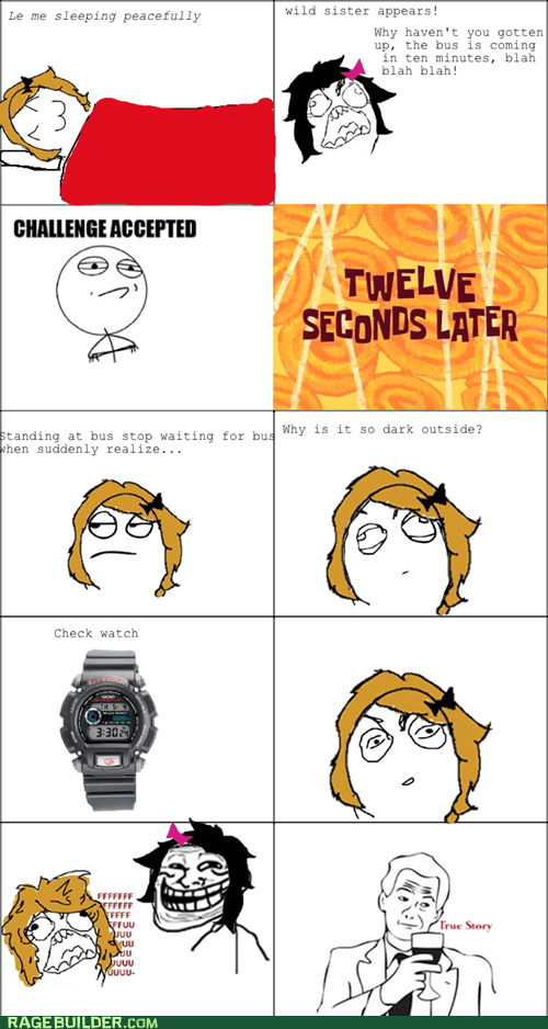 bus,Rage Comics,time,truancy story