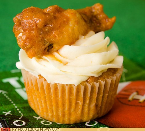 cheese chicken cupcake frosting super bowl wings - 5719478784