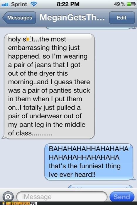 Awkward embarrassing laundry panties pants underwear - 5719598080