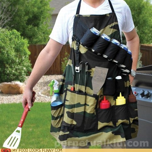 apron,bbq,best of the week,boss,camouflage,pockets,super bowl