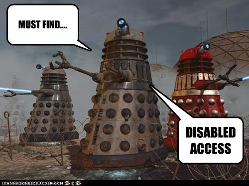 access,daleks,design,disabled,doctor who,find,flaw