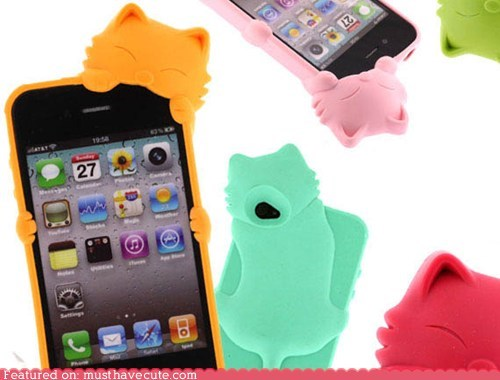 case,cat,chew,colorful,iphone,rubber