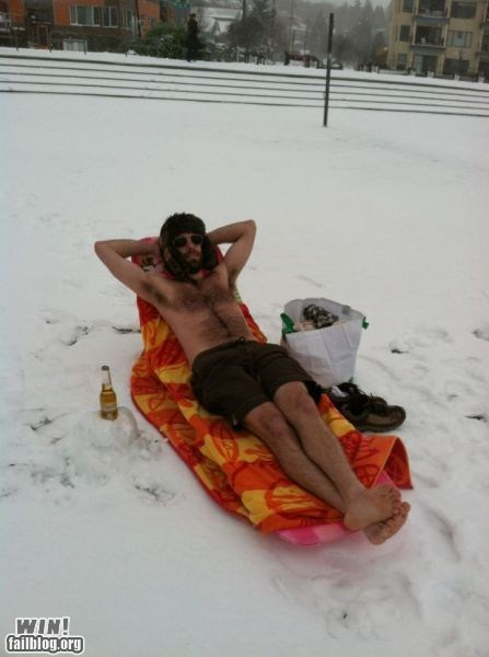 beach,beer,chill,cold,relaxing,snow