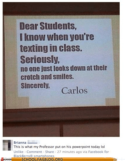 classroom crotch facebook Hall of Fame powerpoint projector texting