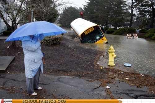 bed,crash,flood,never mind,school bus