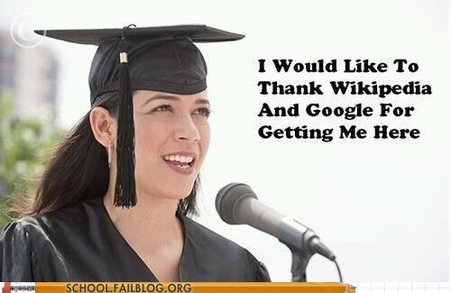 google,graduation,g rated,School of FAIL,thank you,wikipedia