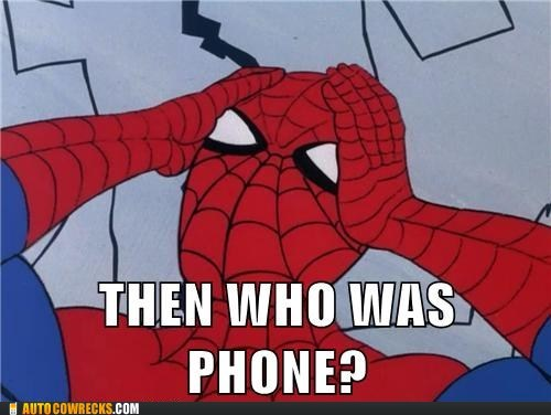 60s spider-man,phone,Spider-Man,who was phone