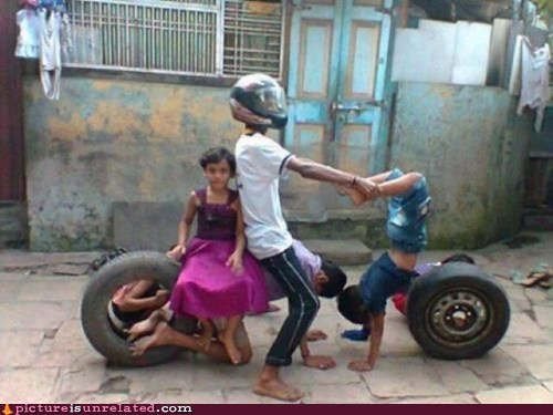 motorcycle,siblings,third world,wtf