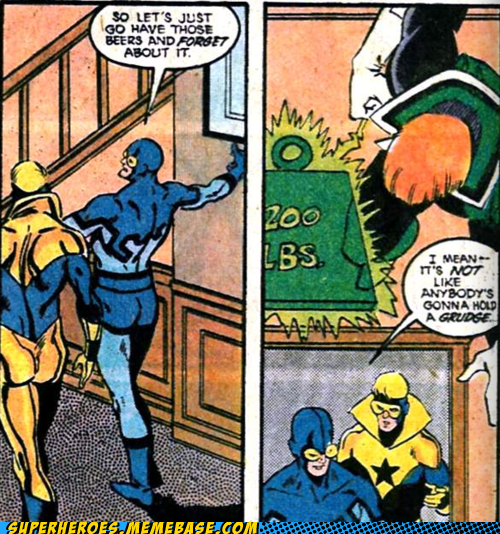 blue beetle buster gold guy gardner Straight off the Page uh oh - 5721898752